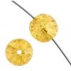 Glass Bead Cracked 10mm Round Light Topaz